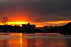 舘山寺の夕日
