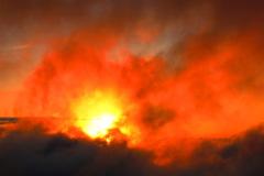 御嶽山からの日没