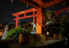 夜の三光稲荷神社