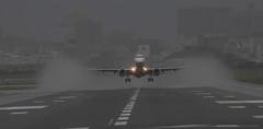 雨の伊丹空港1
