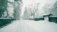 角館 雪景色