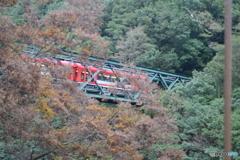 出山鉄橋を渡る登山電車