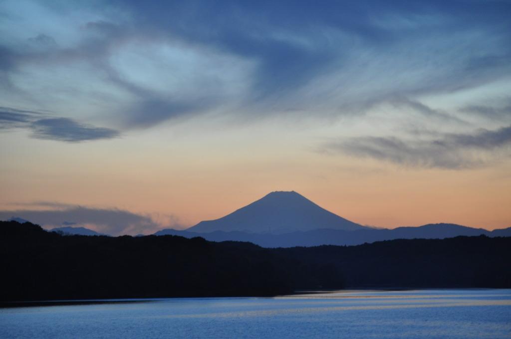 狭山湖越しの富士山 Ⅰ