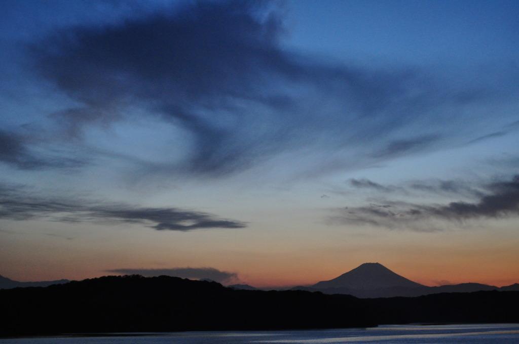 狭山湖越しの富士山 Ⅱ