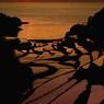 落陽の棚田(縦位置)