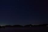 島影と星そら