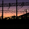 夕日の操車場