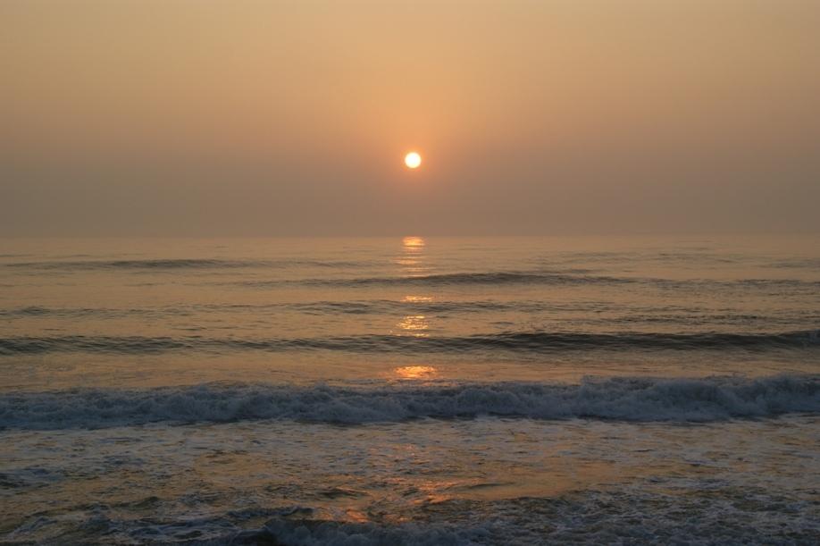 朝日への道