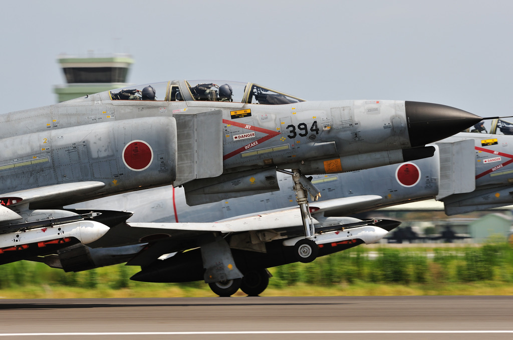 302SQ F-4EJタンデム@百里基地