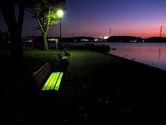 手賀沼公園の夕暮れ