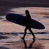 Surfer Girl in the evening