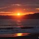 御宿海岸の夕日
