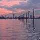 江川海岸の夕暮れ