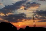 夕焼け鉄塔