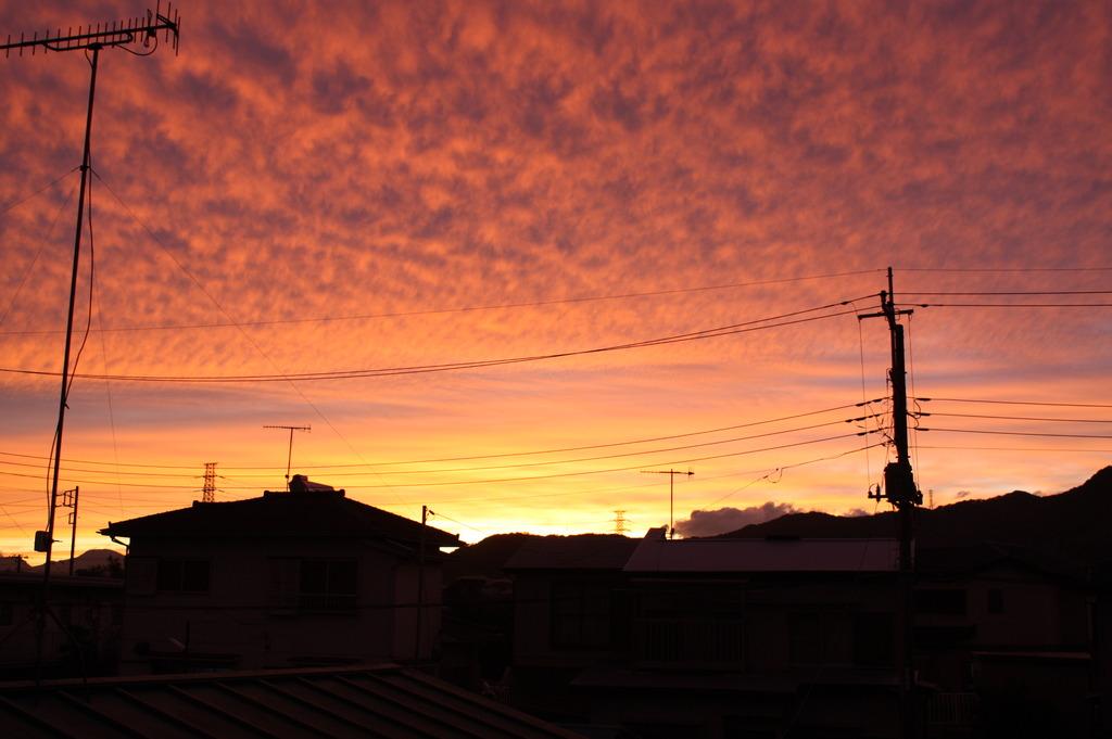何気ない夕焼け~1日の終わり
