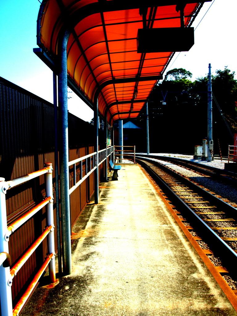 電車の来ない風景