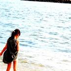 NIKON NIKON D60で撮影した人物(波を感じる)の写真(画像)