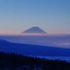 冷たい朝と富士