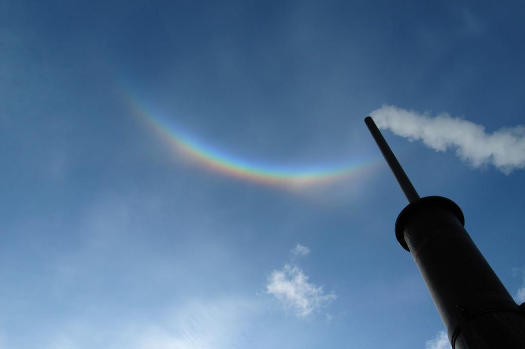 気が付けば虹が・・・