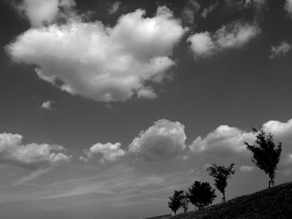 青い空を想像する