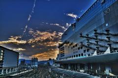 夕暮れ京都駅
