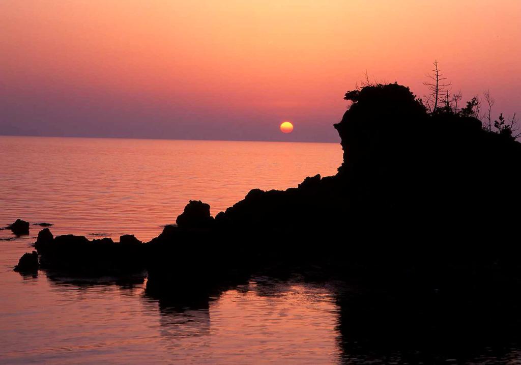 山陰の夕日