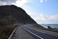 勝木駅付近にて