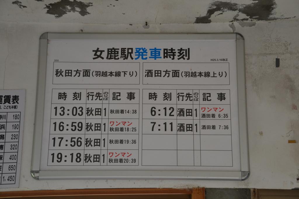 女鹿駅(2013年)2