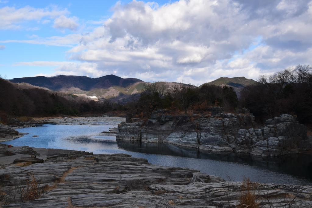 冬の長瀞岩畳