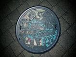 びわ湖の魅力満載のマンホール・アート