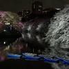 青と黒と桜と 千鳥ヶ淵