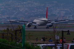 JAL777 Landing(Ground Spoiler)