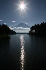 富士の御神渡り
