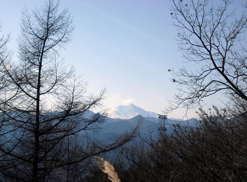榛名から見た浅間山