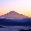 赤霞の富士