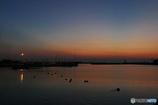 漁港の夕景……梅雨の晴れ間に