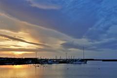2月の漁港