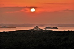 夕陽の岬…焦がれる富士