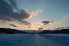 2010/02/17(遠くの雪雲)