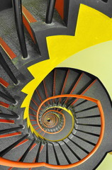The spiral stairs