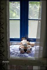 窓辺の茶器