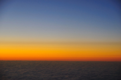 雲と夕暮れ