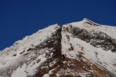 初冬の大雪山 旭岳 稜線