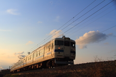 夕暮れ鉄道