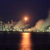 夜明け前の工場