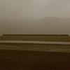 朝靄の外輪山