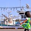 漁港で休憩