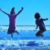 波をジャンプ