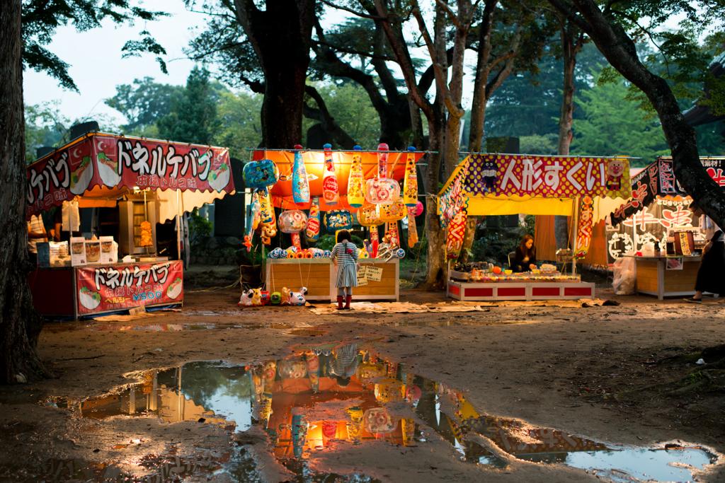 雨上がりのお祭り