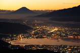 富士を望む朝